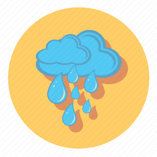 blue, clouds, cloudy, rain, weather icon