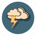 cloud, forecast, lighting, lightning, thunder, weather icon