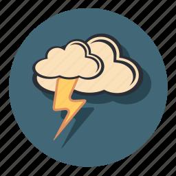 cloud, forecast, lighting, lightning, thunder, weather icon