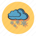 cloud, forecast, snow, snowflake, weather icon
