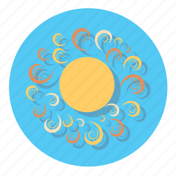 forecast, hot, sun, weather icon