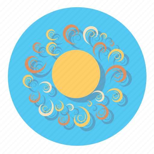 forecast, hot, sun, weather icon