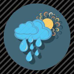 forecast, rain, sun, sunny, weather icon