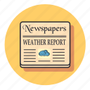 cloud, communication, forecast, media, news, weather icon