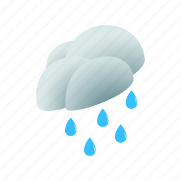 cloud, isometric, nature, rain, sky, water, weather icon