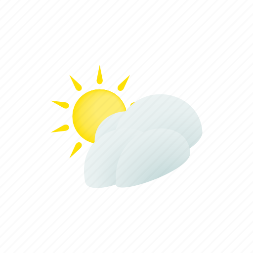 cloud, isometric, nature, sky, summer, sun, weather icon