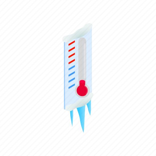 cold, heat, hot, instrument, isometric, temperature, thermometer icon