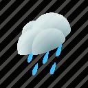 cloud, isometric, rain, sky, water, weather, wind icon