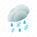 cloud, isometric, rain, season, sky, snow, weather icon
