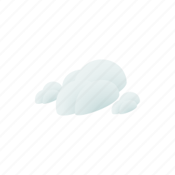 blue, cloud, cloudscape, isometric, nature, sky, weather icon