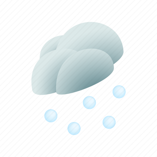 cloud, forecast, graphic, grey, hail, isometric, nature icon