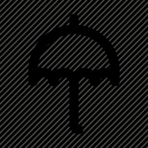 cloudy, forecast, report, temperature, umbrella, weather, wind icon