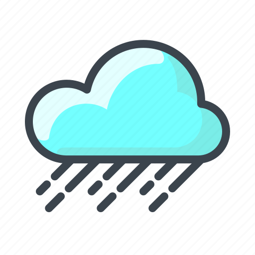 cloud, cloudy, forecast, night, rain, weather icon