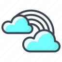 cloud, clouds, forecast, rain, rainbow, sun, weather icon