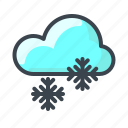 cloud, forecast, snowflake, weather, snow, winter