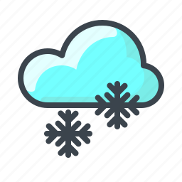 cloud, forecast, snow, snowflake, weather, winter icon