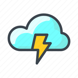 cloud, cloudy, forecast, rain, storage, thunder, weather icon