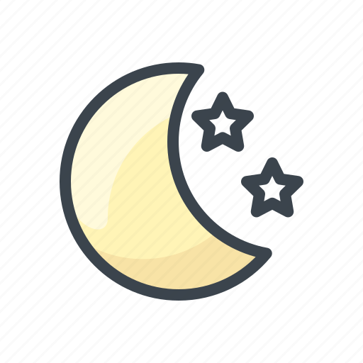 forecast, moon, night, star, weather icon
