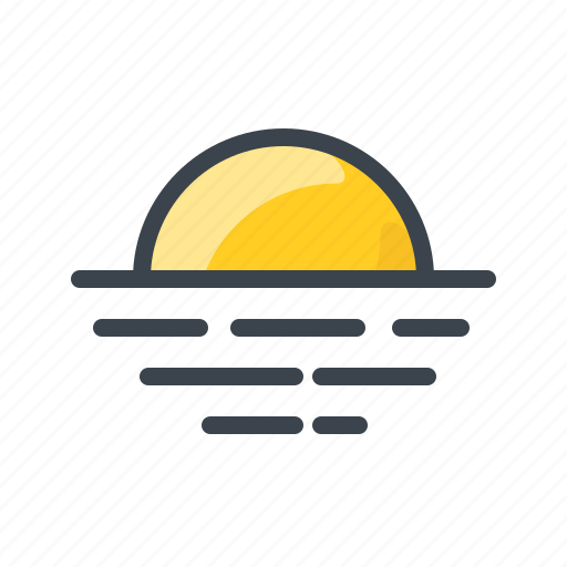 forecast, summer, sun, sunny, sunraise, weather icon