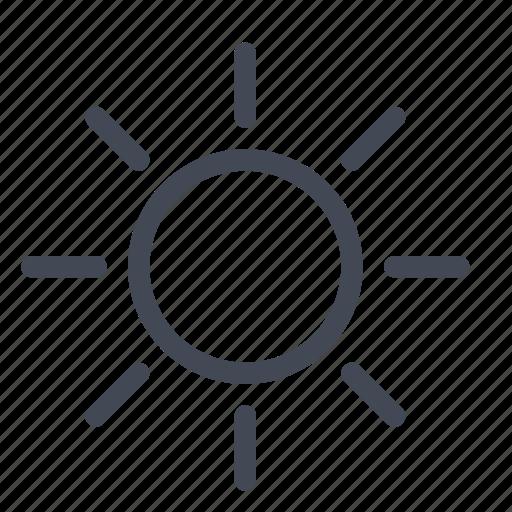 forecast, hot, sun, sunny, weather icon