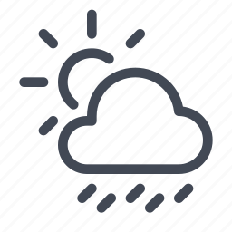 forecast, rain, scattered, showers, weather icon