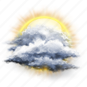 cloud, cloudy, partly, sun icon