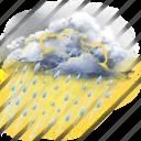rain, thunder, thunderstorm icon