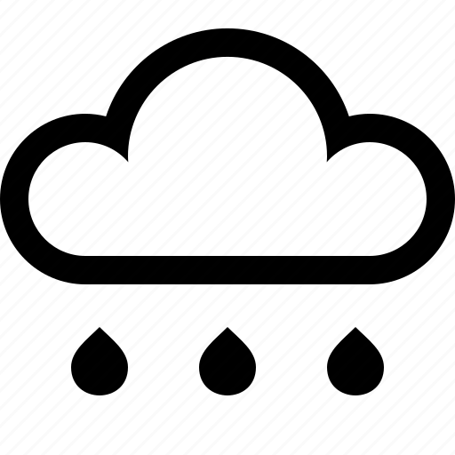 cloud, drizzle, rain, storm, weather icon