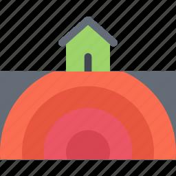 agent, earthquake, insurance, nature, phenomenon, weather icon