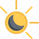 agent, eclipse, insurance, nature, phenomenon, weather icon