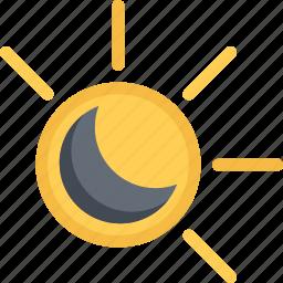 agent, eclipse, insurance, nature, phenomenon, weather icon
