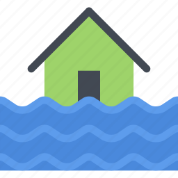 agent, flood, insurance, nature, phenomenon, weather icon