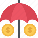 agent, insurance, money, nature, phenomenon, weather icon