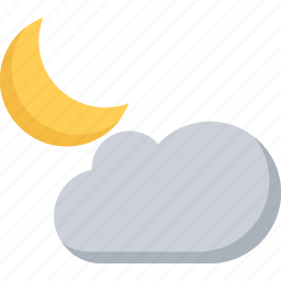 agent, cloud, insurance, moon, nature, phenomenon, weather icon
