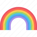 agent, insurance, nature, phenomenon, rainbow, weather icon