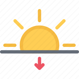 agent, insurance, nature, phenomenon, sunset, weather icon