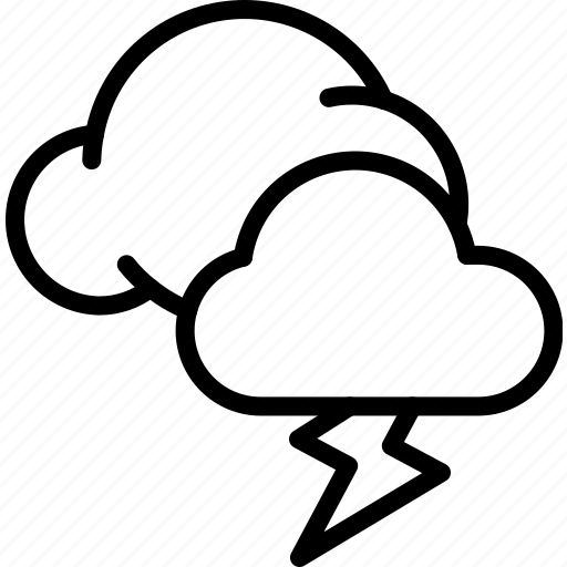 Clouds, lightning, strom, weather icon - Download on Iconfinder