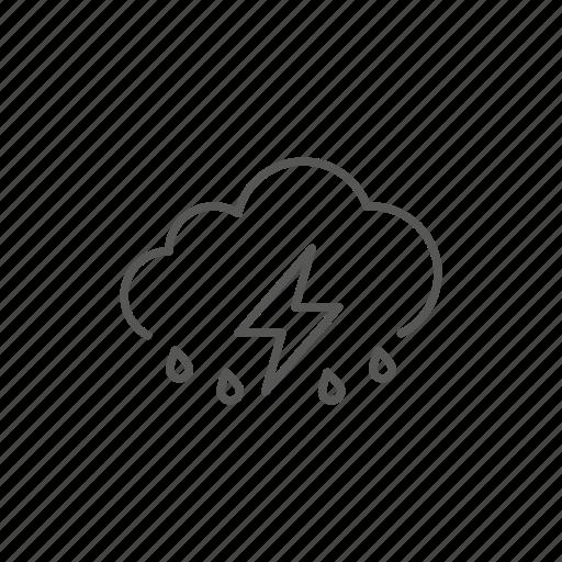 cloud, heavy, rain, storm, weather icon