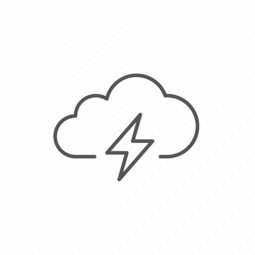 cloud, storm, weather icon