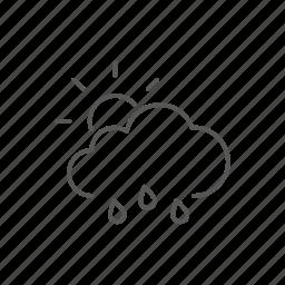 partial, rain, sun, weather icon