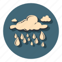 cloud, drops, night, rain, weather icon