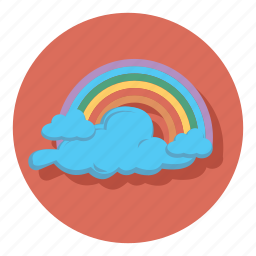 cloud, cloudy, forecast, rainbow, weather icon