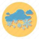 cloud, snow, snowflake, weather, winter icon
