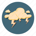 lightning, storm, thunder, weather icon