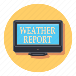 analytics, forecast, report, statistics, tv, weater, weather icon
