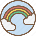 cloud, rainbow, weather icon