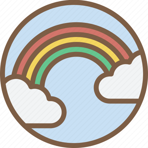 Cloud, rainbow, weather icon - Download on Iconfinder