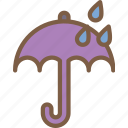rain, umberlla, weather icon