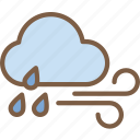 cloud, rain, weather, wind, windy icon