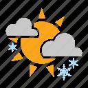 cloud, snowfall, sun, weather